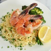 Lemon Scampi with Gulf Shrimp and Roasted Broccoli