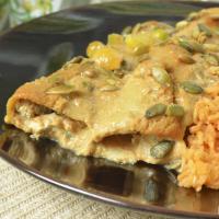 Mango Mole Enchiladas