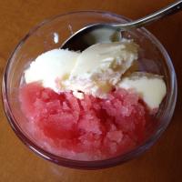 Watermelon Sorbet and Mango Ice Cream