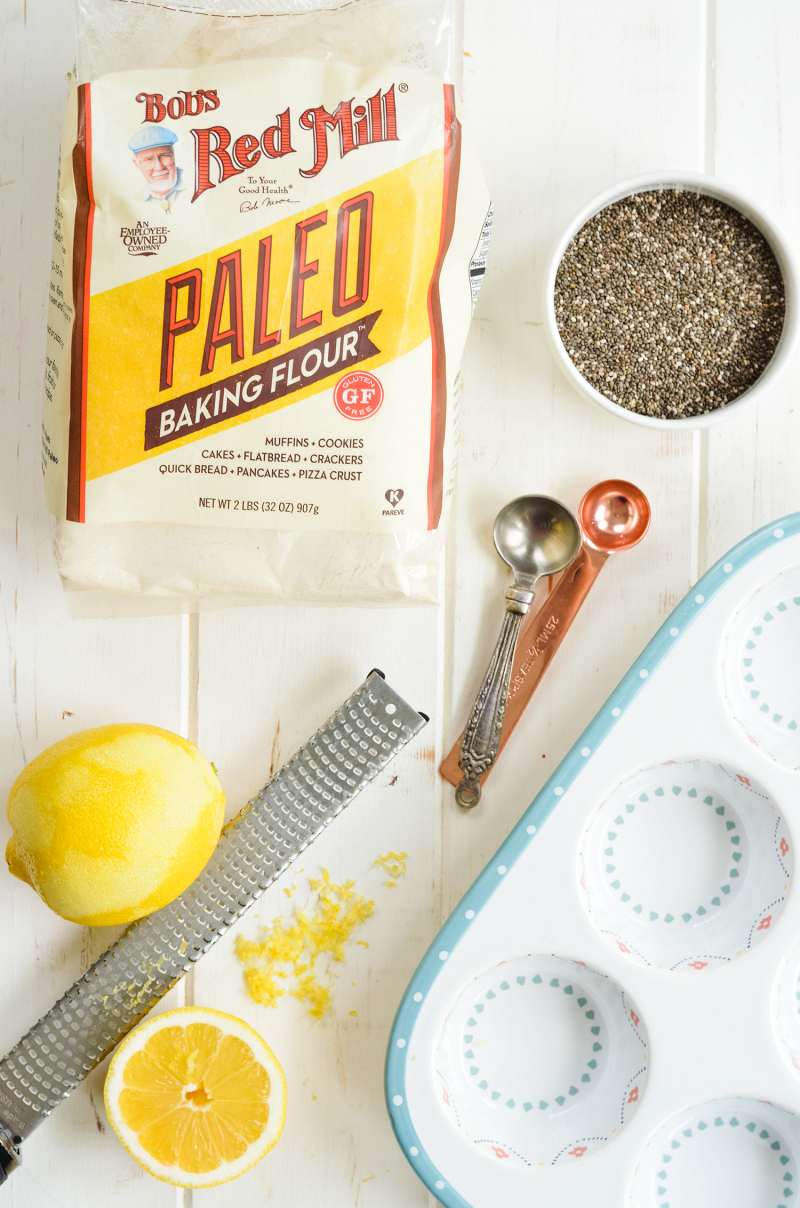 Grain Free Lemon Chia Seed Muffin Ingredients