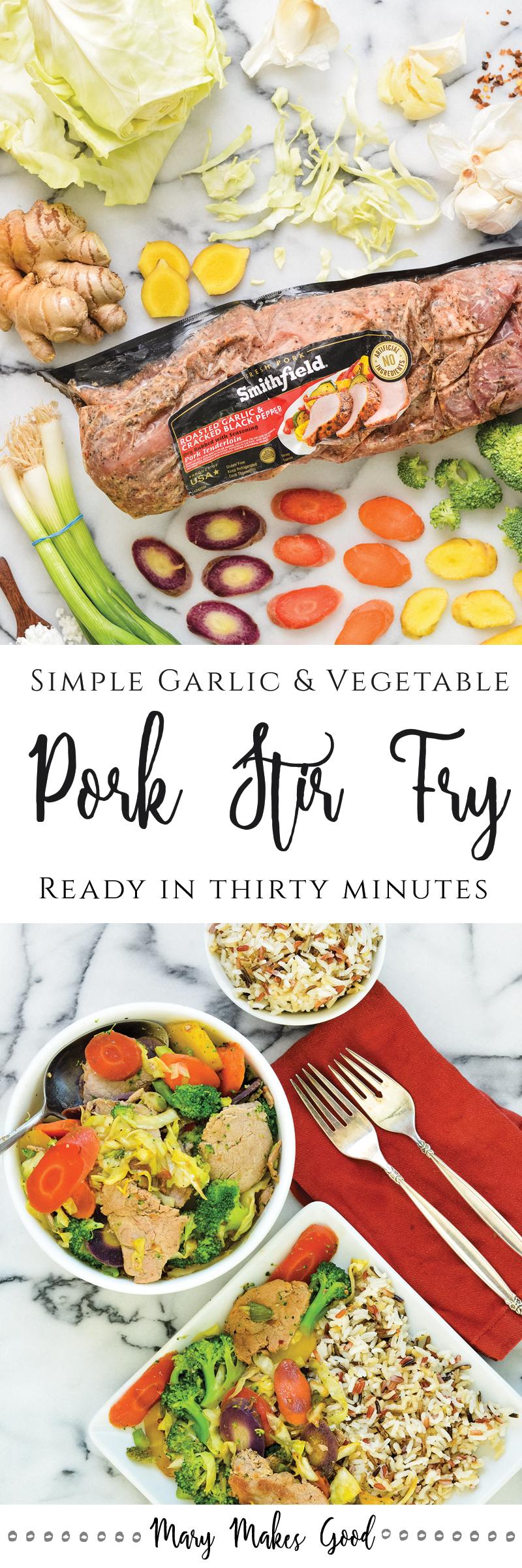 Simple Pork Stir Fry -  A 30 Minute Recipe Sponsored by Smithfield®