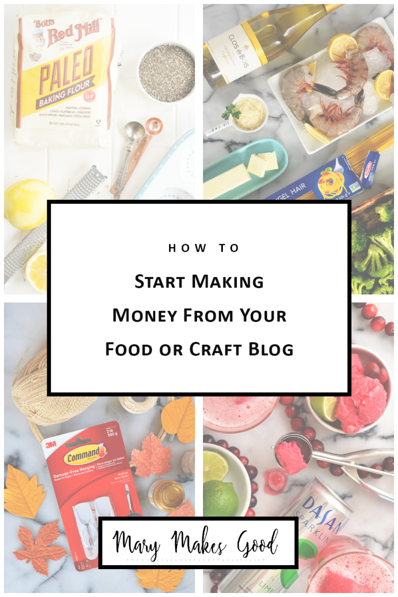 How to Start Making Money From Your Craft or Food Blog