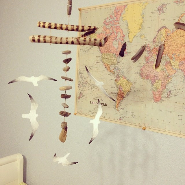 Seagull Mobile | Travel Themed Nursery | Mary Makes Pretty