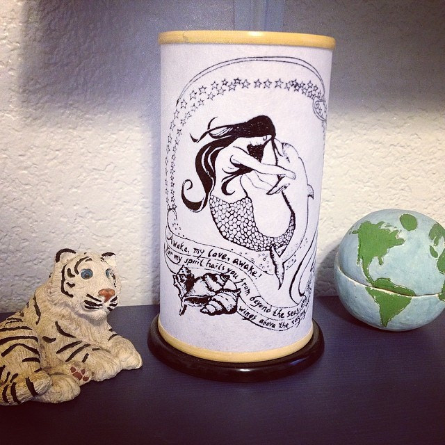 World Themed Nursery | Mermaid Dolphin Candle and Globe | Mary Makes Pretty