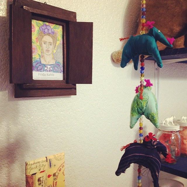 Frida Kahlo Portrait, Chindi Elephants | World Themed Nursery | Mary Makes Pretty