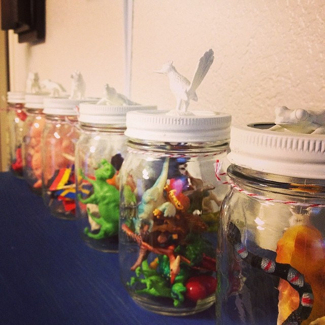 Tiny Toys in Jars | Nursery Decor | Mary Makes Pretty