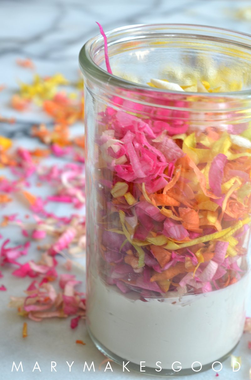 How to Make Flower Petal Confetti Facial Masks | Mary Makes Good