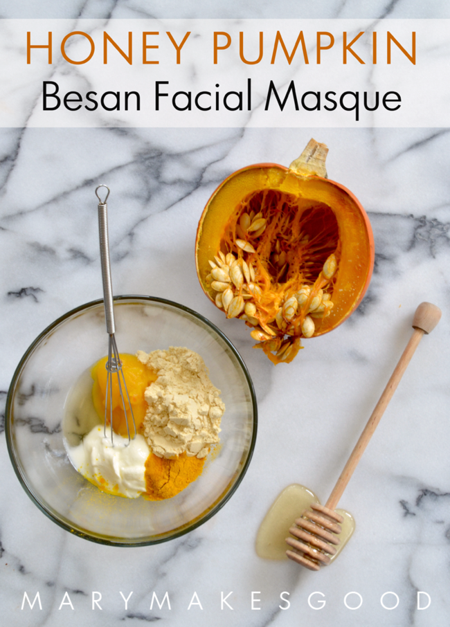 Honey Pumpkin Besan Facial Masque