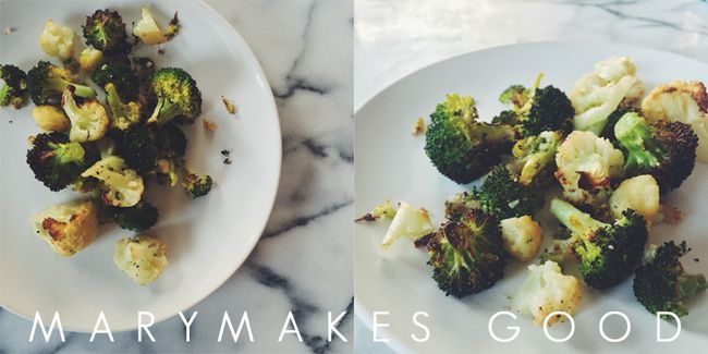 Kitchen Quickie: Roasted Broccoli & Cauliflower