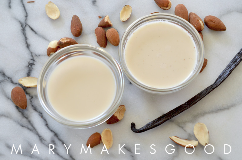 How to Make Homemade Vanilla Almond Milk | Mary Makes Good