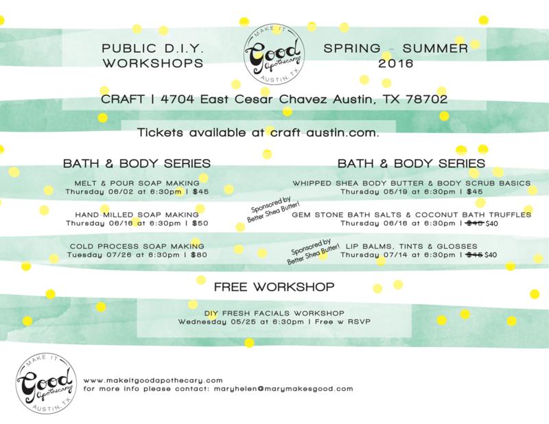 DIY Bath & Body and Soap Making Workshops in Austin, TX!