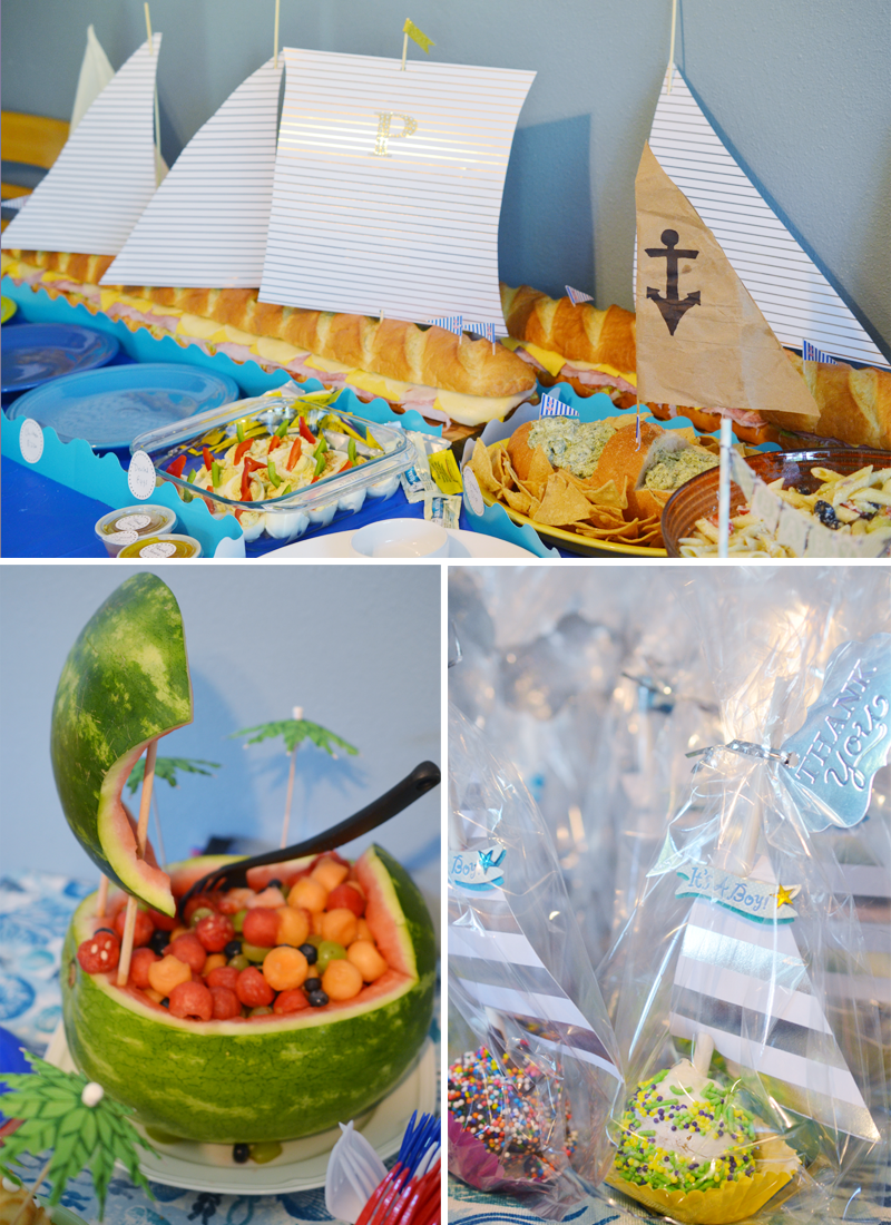 Nautical Shower Buffet
