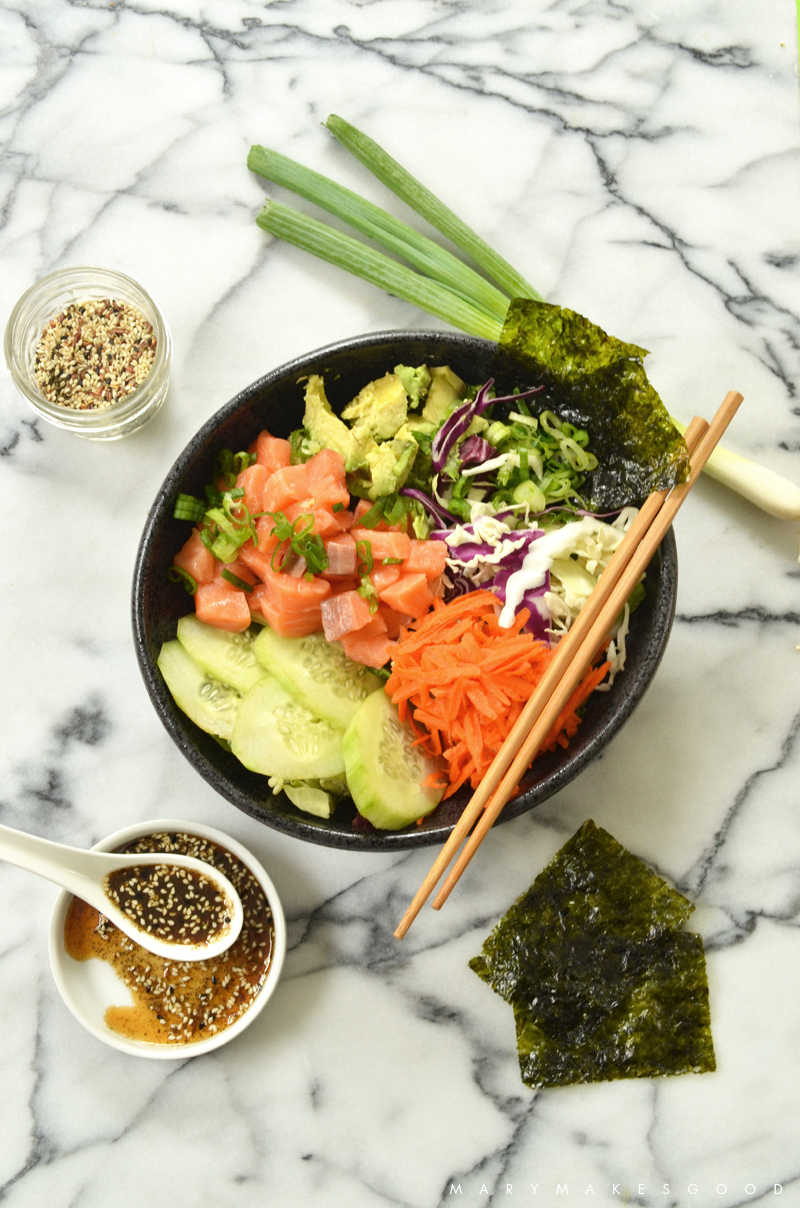 Salmon Poke Salad Recipe