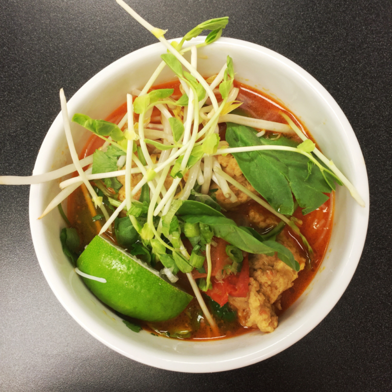 Bun Rieu (Vietnamese Crab Dumpling Soup), and Har Gow (Cellophane Shrimp Dumplings)