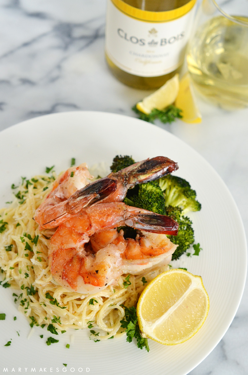 Lemon Scampi with Gulf Shrimp and Roasted Broccoli