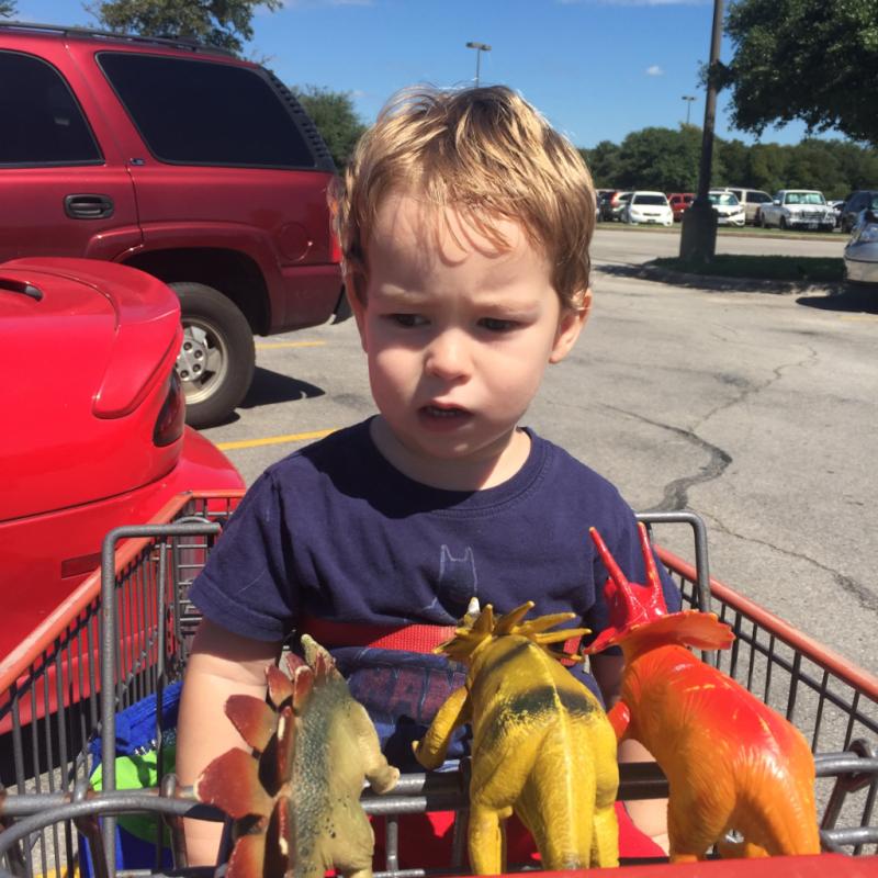 Dinosaur cart
