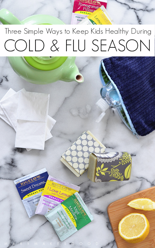 Three Simple Ways to Keep Kids Healthy During Cold & Flu Season | Sponsored by Bigelow Tea