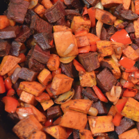 Roasted Sweet Potatoes with Chili & Lime