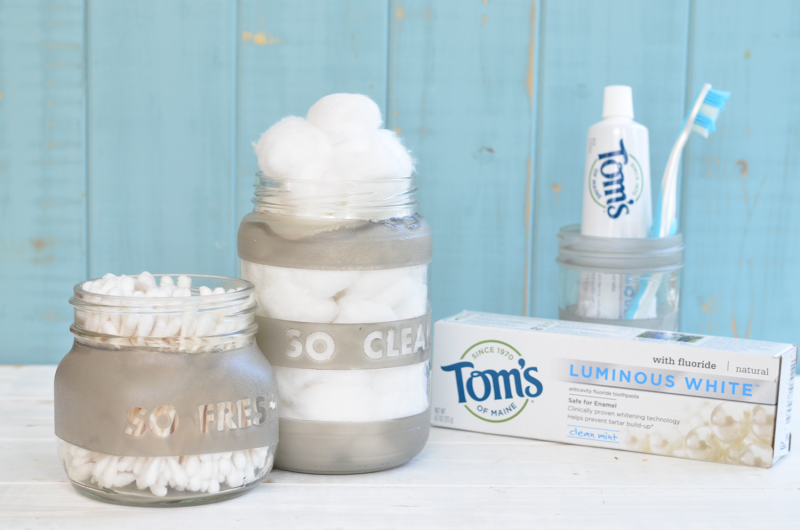 DIY Upcycled Frosted Storage Jars