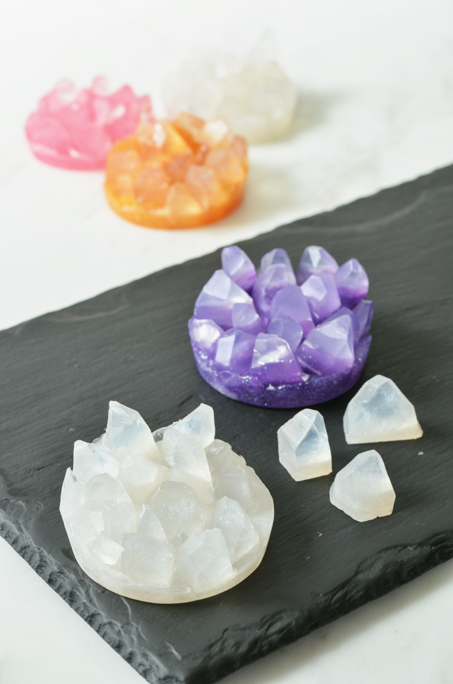 Make Your Own Crystal Soaps (A Beautiful Mess)