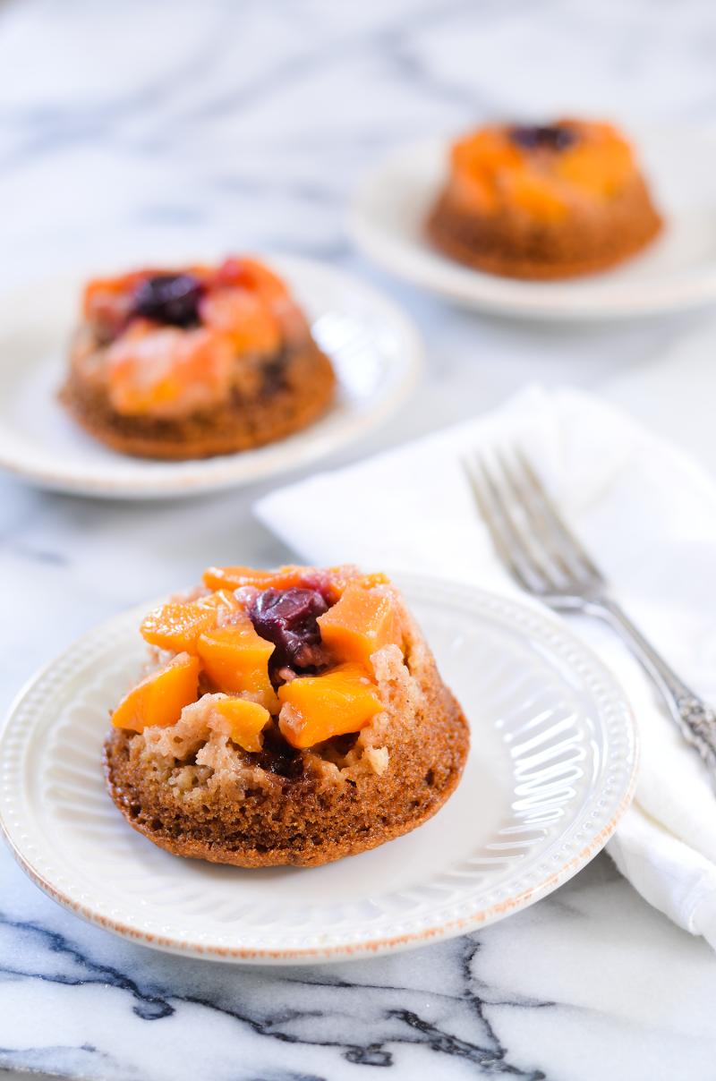 Homemade Apple Peach Upside Down Cake Recipe