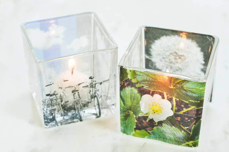 Make Your Own Instagram Votive Candle Holders     (click through for tutorial)
