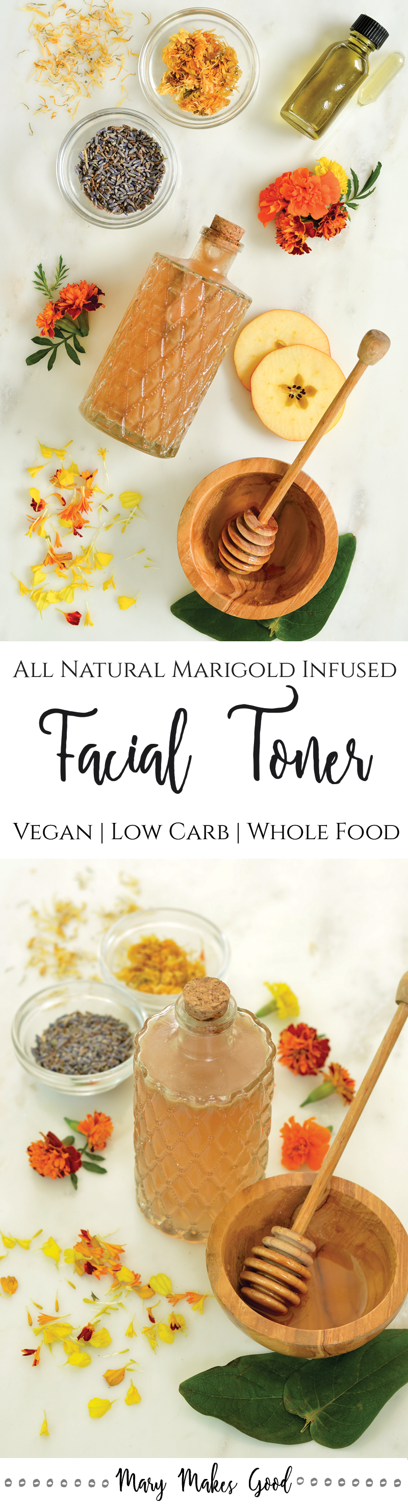 Make Your Own All-Natural Facial Toner with Marigolds  Honey  and Vinegar