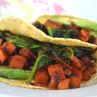 Chipotle Sweet Potato and Spinach Tacos Recipe